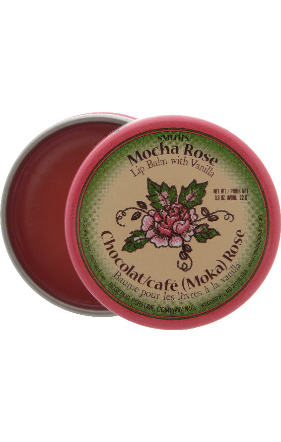 smith's rosebud mocha rose lip balm