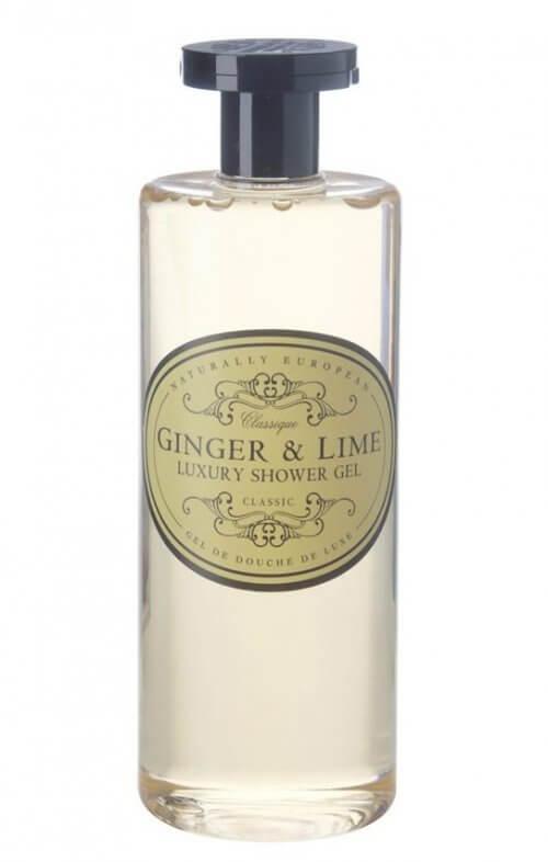naturally european ginger lime shower gel