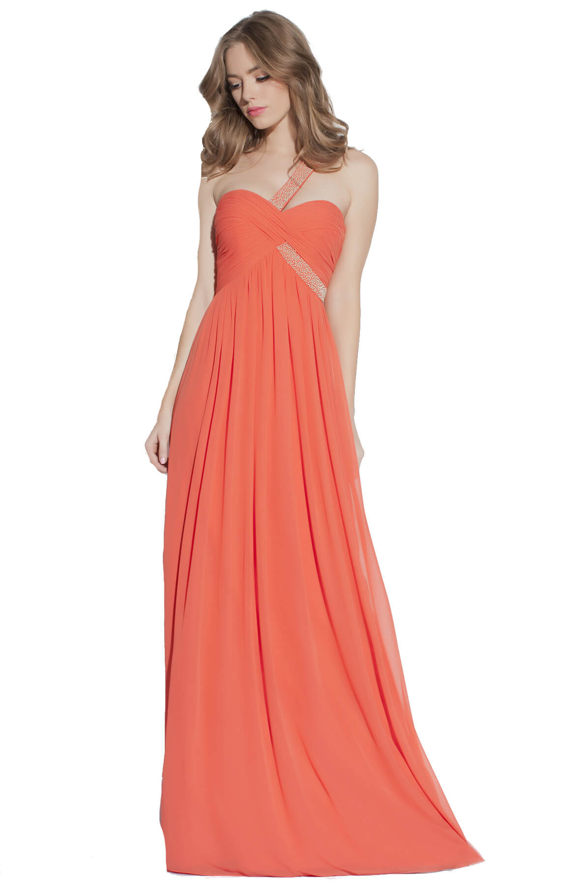 g by george ainsley gown orange
