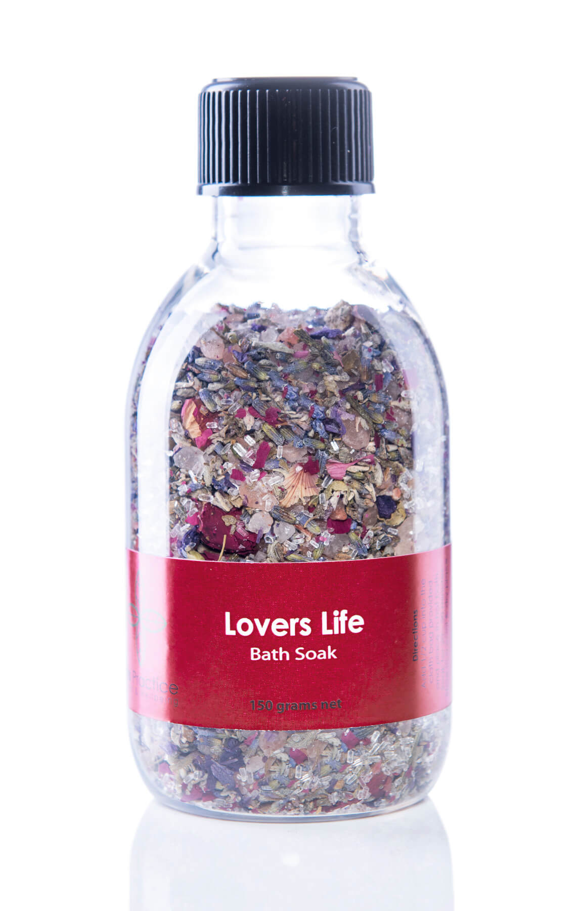 iris practice lovers life bath salts jar