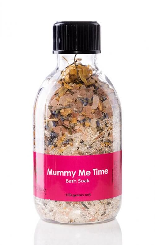 iris practice mummy me time bath salts jar