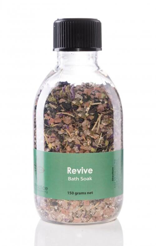 iris practice revive bath salts jar