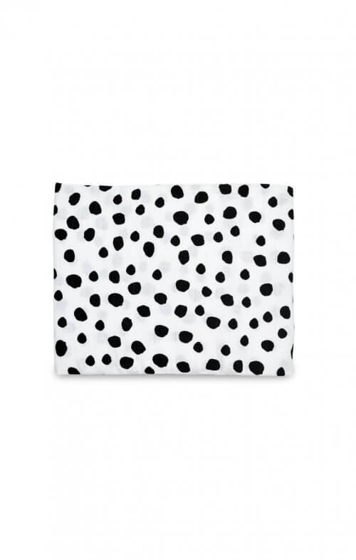 organic cotton muslin baby swaddle blanket spot