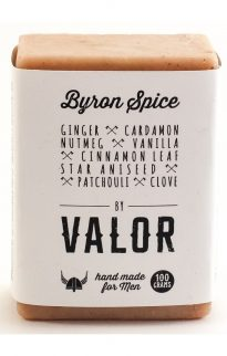 shave with valor byron spice body soap men