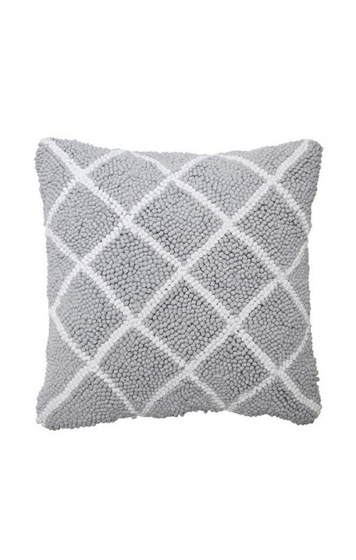 one another cushion Quilted grey marle white