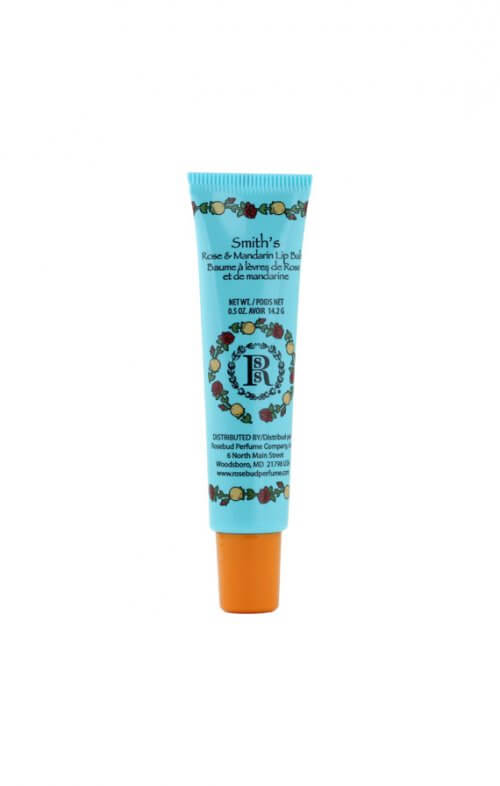 smith's rosebud mandarin rose lip balm tube