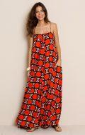 totem kaphangan maxi dress noronha red
