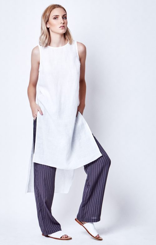 chalice tunic white linen