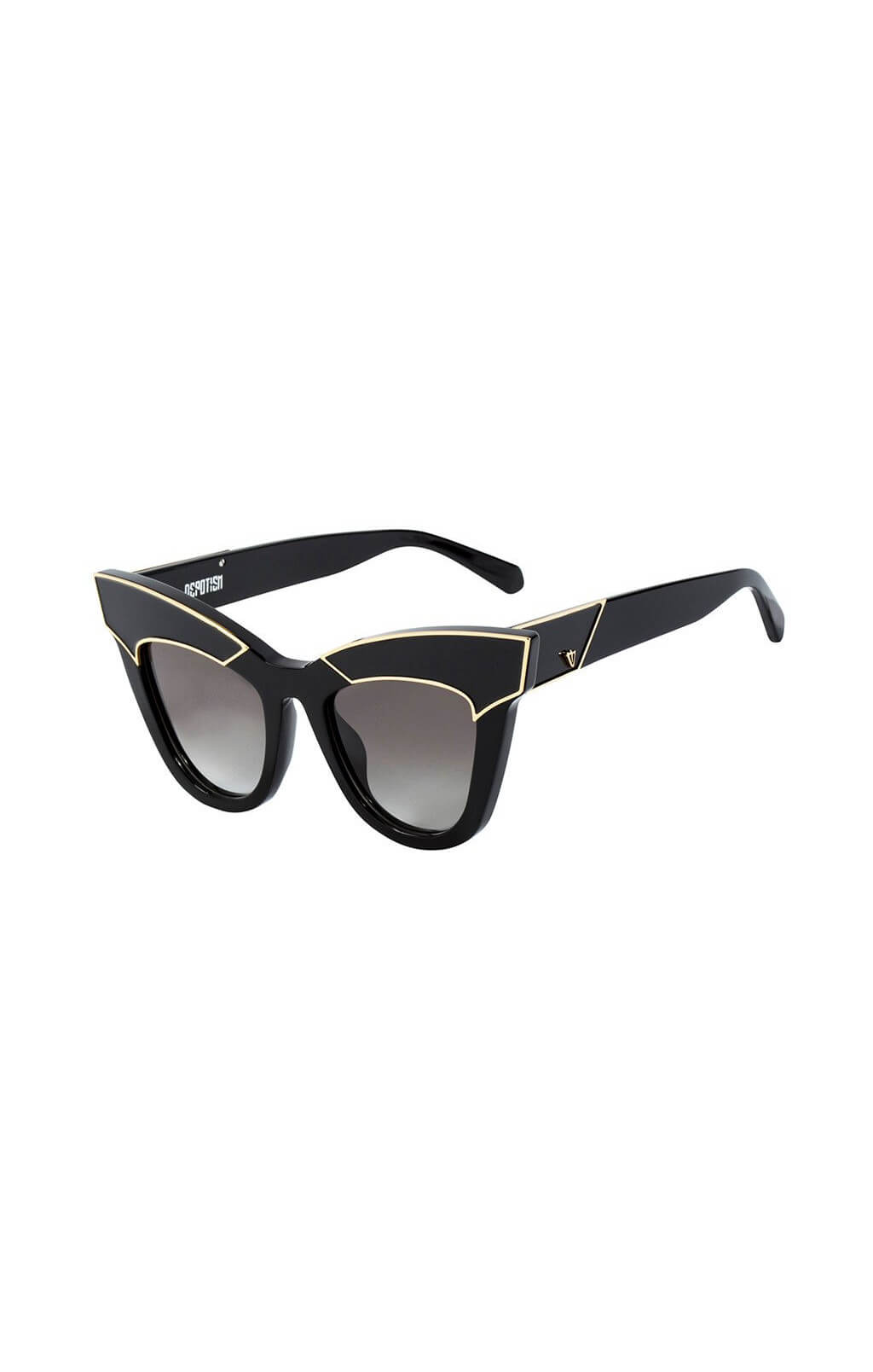 valley eyewear depotism sunglasses black gold
