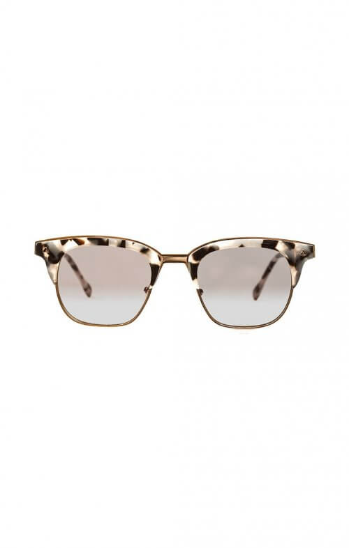 valley eyewear larynx sunglasses baby pink rose gold