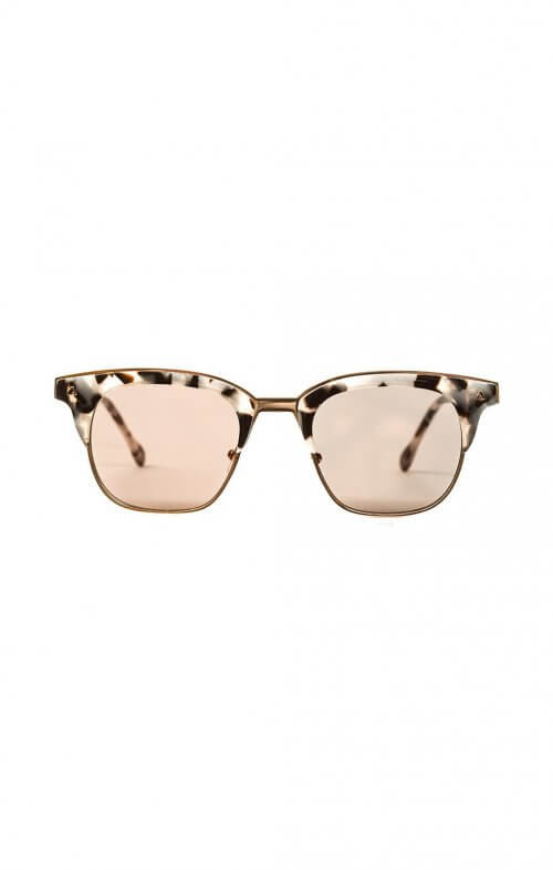 valley larynx sunglasses baby pink rose gold mirror