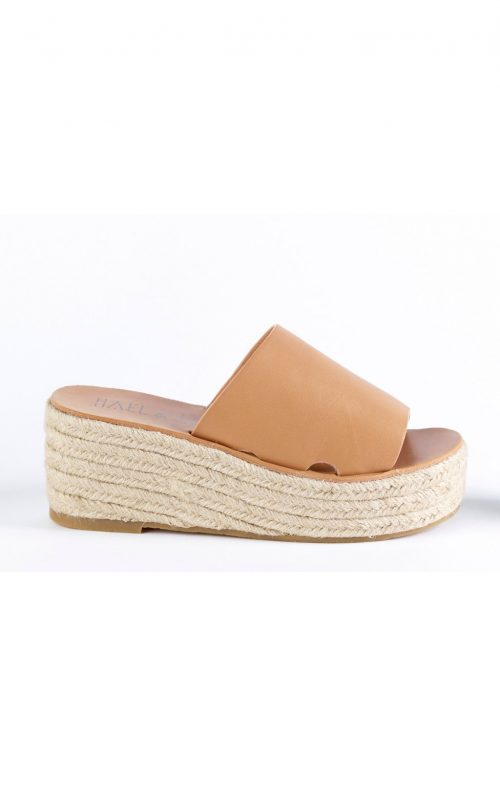 hael and jax blossom tan wedge mule