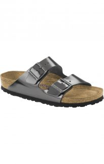 birkenstock arizona metallic anthrazite