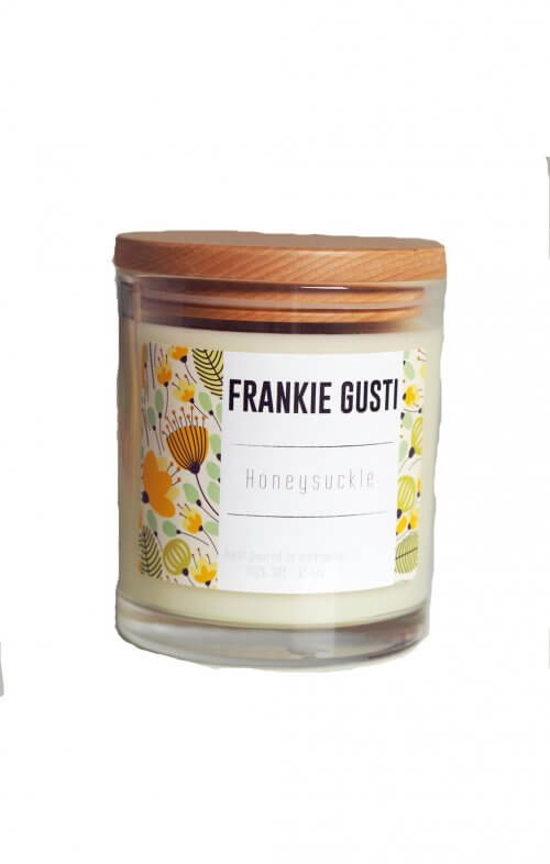 frankie gusti wood lid honeysuckle candle
