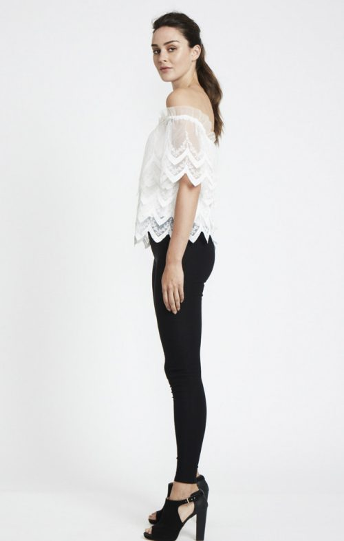 ids yasmin lace off shoulder top white