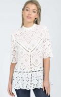 mvn summer bloom lace top white