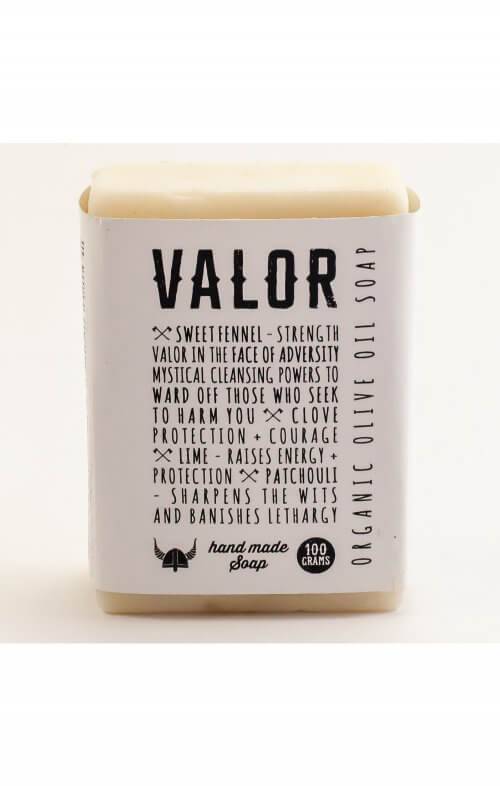 shave with valor organic body soap