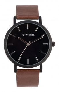 tony will black tan watch