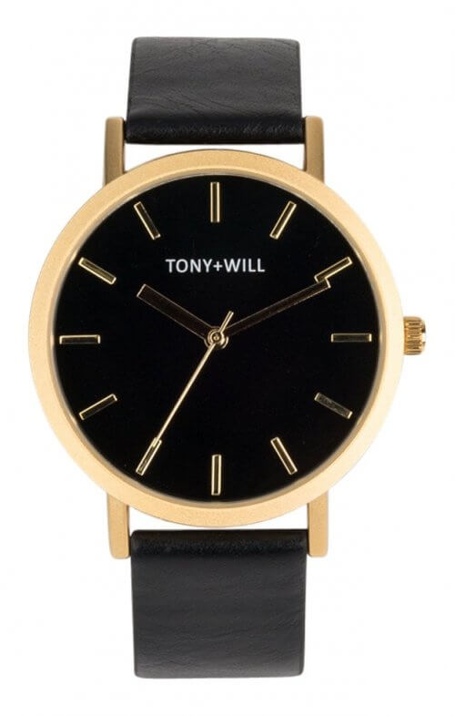 tony + will gold black watch
