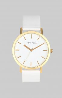 tony will gold white watch