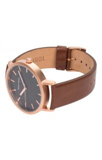 tony will rose gold black tan watch2