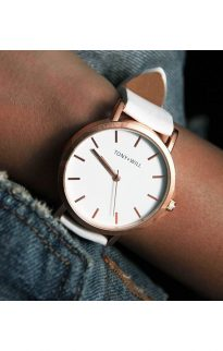 tony will rose gold white watch5