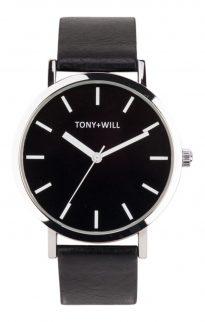 tony will silver black watch