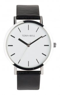 tony will silver white black watch