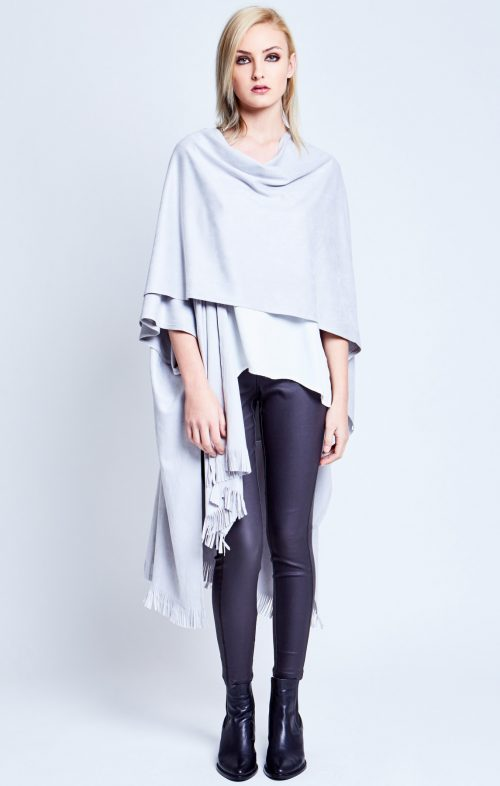 chalice suede look poncho wrap