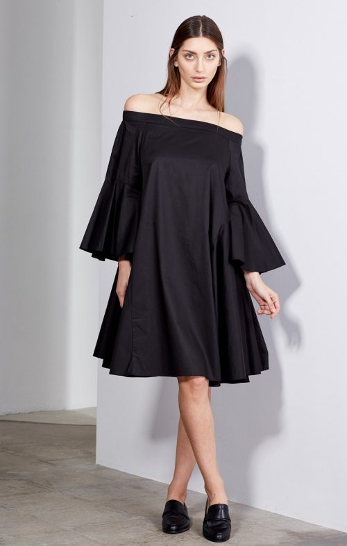 imonni elene dress black