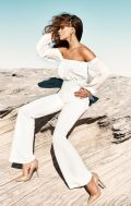 miss holly cross pantsuit off shoulder white