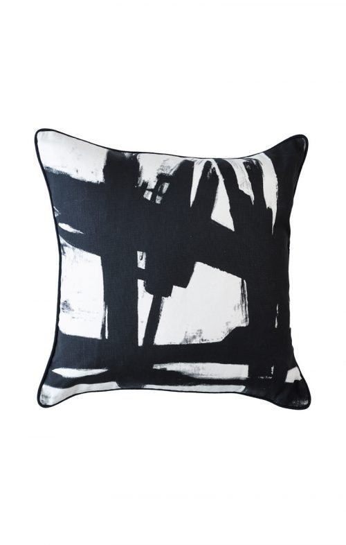 greg natale black paint cushion