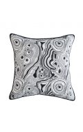 greg natale malachite cushion black white