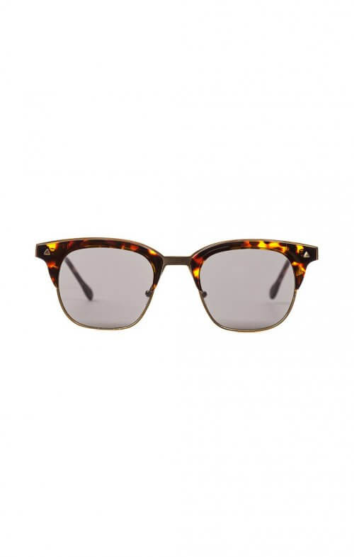 valley eyewear larynx sunglasses dark tortoise gold trim