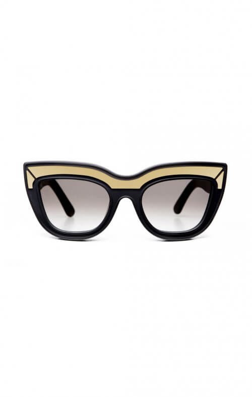 valley eyewear marmont sunglasses matte black gold trim