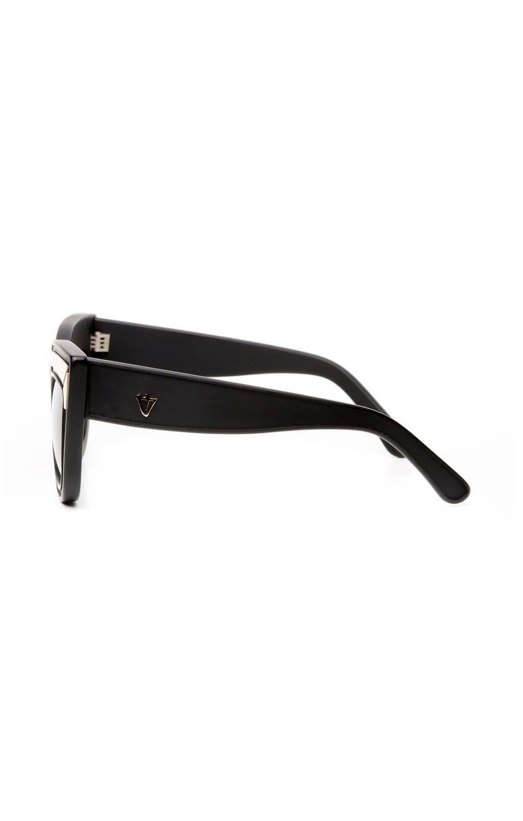 valley eyewear marmont sunglasses matte black gold trim