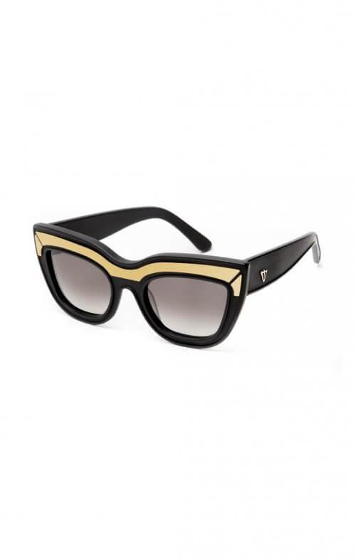 valley sunglasses marmont matte black gold trim3
