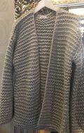 chalice knit bomber cardigan stone