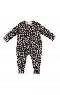 chikhi wrap onesie snow leopard blush