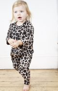 chikhi wrap front onesie snow leopard blush