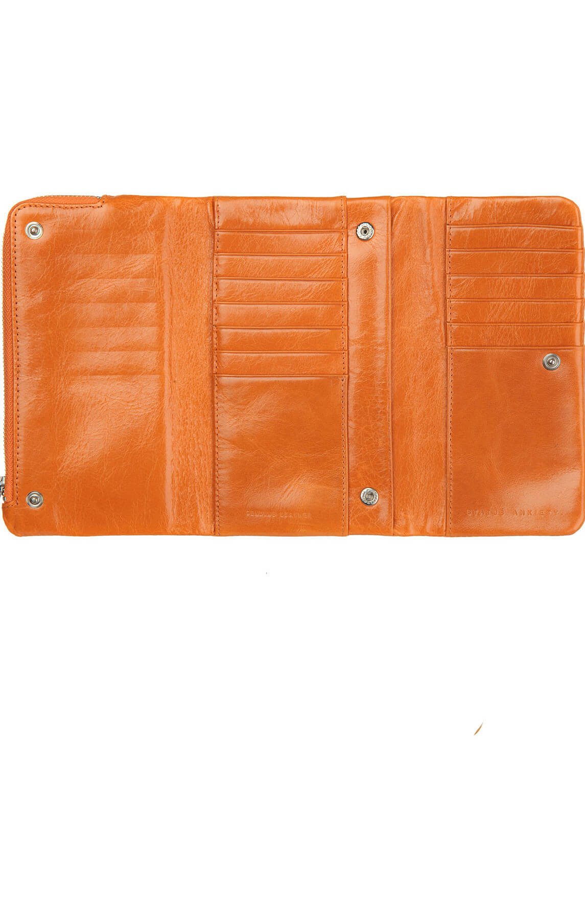 status anxiety audrey wallet burnt orange