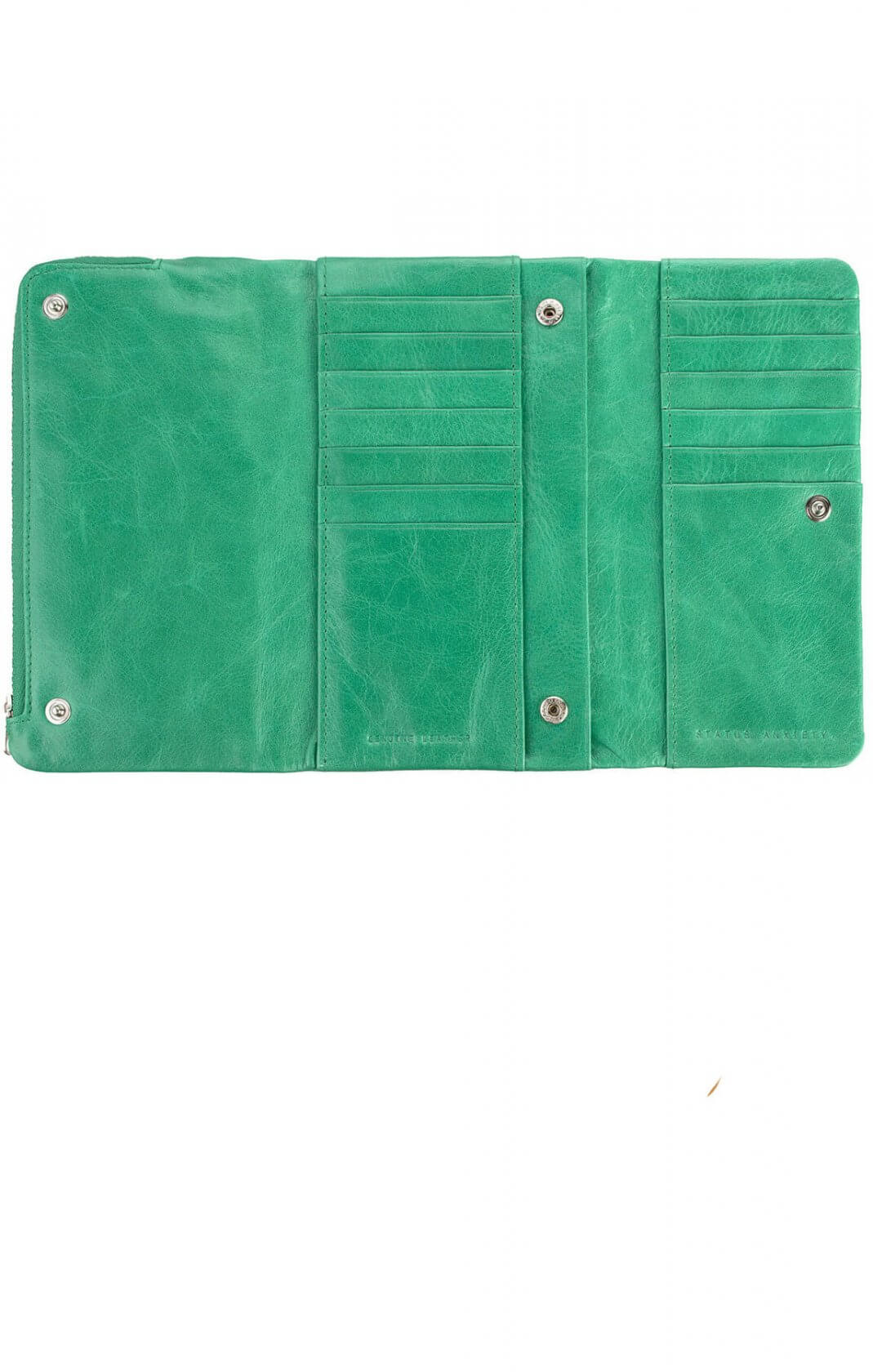 status anxiety audrey wallet emerald green