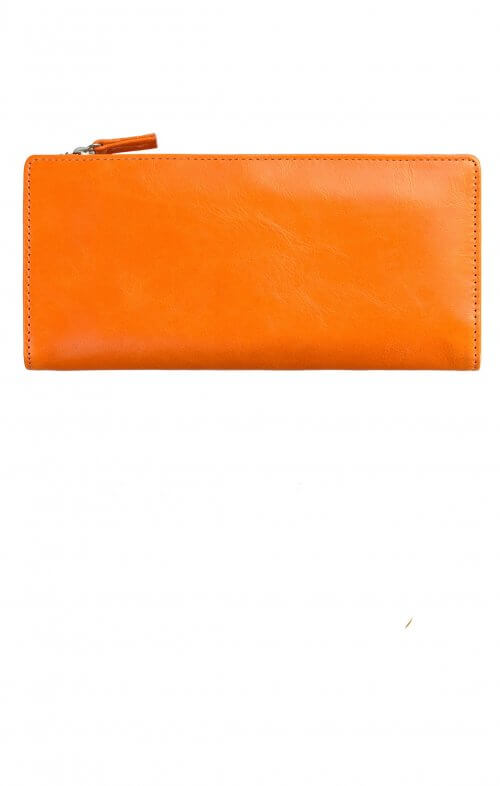 status anxiety dakota wallet burnt orange