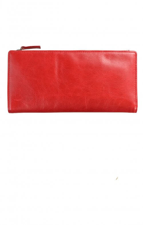 status anxiety dakota wallet red