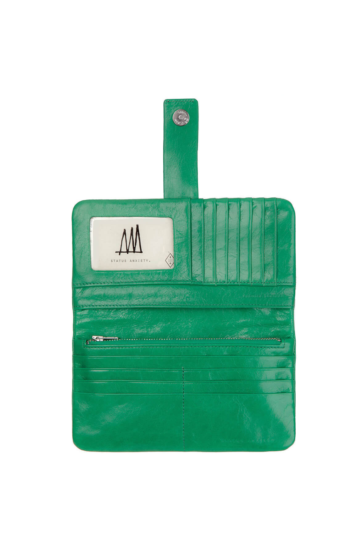 status anxiety esther wallet emerald green
