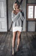 mornings knit jumper grey
