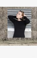 zoe o the label organic long sleeve tee