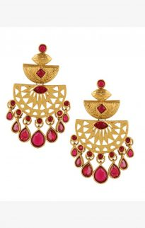 lazurah kaleigh earrings gold red