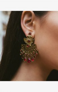 lazurah kaleigh earrings gold red2