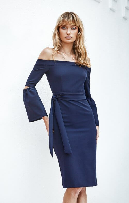 miss holly kenza dress navy